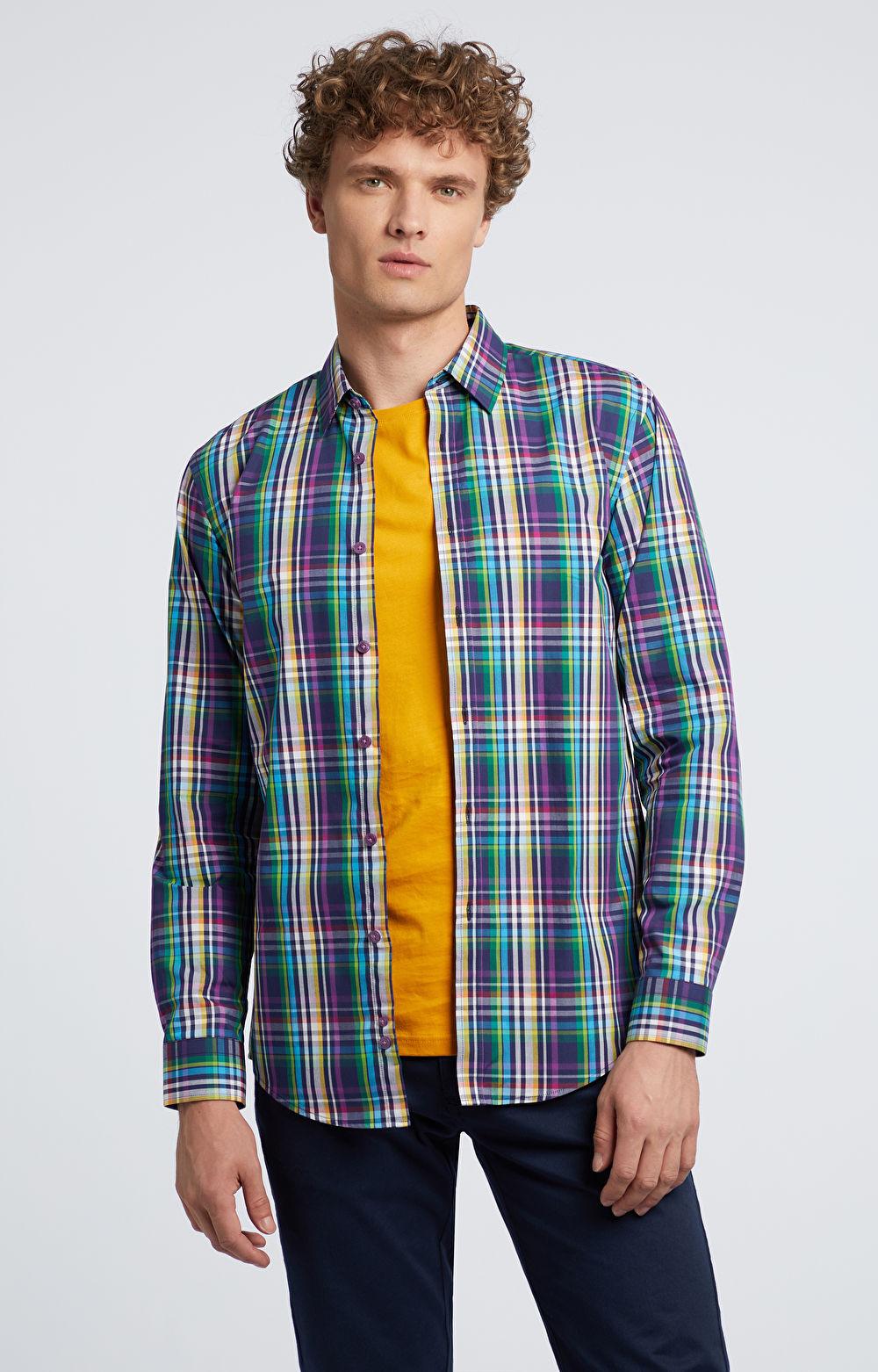 Koszula w kolorową kratkę