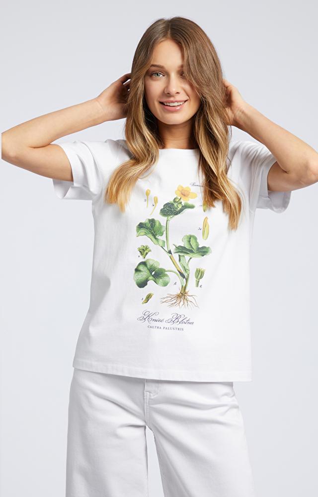 Wielokolorowy t-shirt WÓLCZANKA