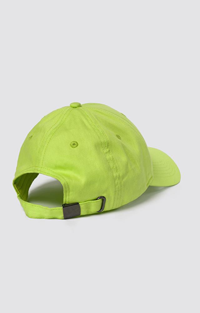 Limonkowa czapka z daszkiem WÓLCZANKA