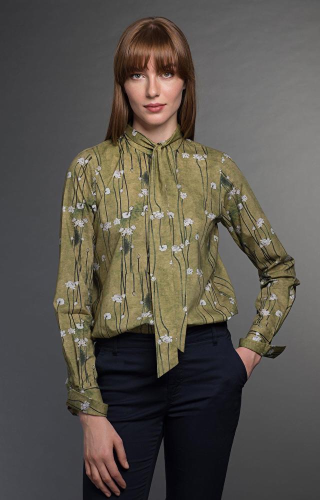 Zielona koszula damska WÓLCZANKA