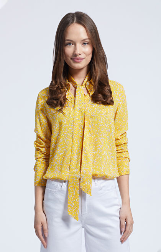 Żółta koszula damska LAMBERT