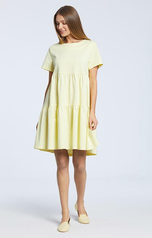 Żółta sukienka WÓLCZANKA