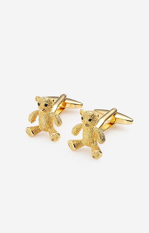 Złote spinki damskie do koszuli LAMBERT