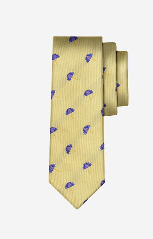 Żółty krawat LAMBERT