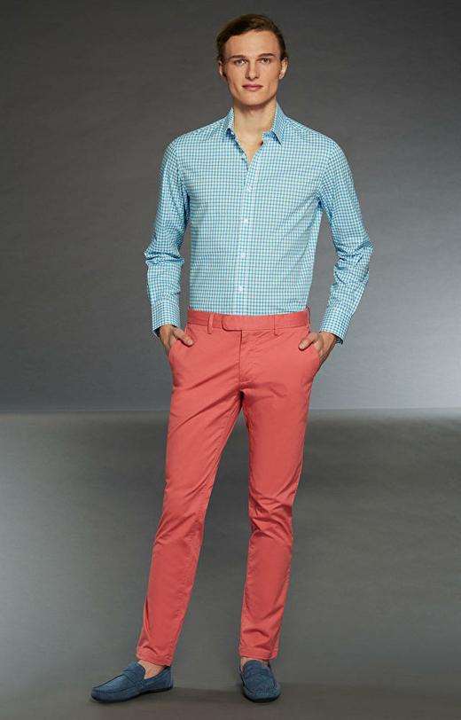 Jasnoczerwone spodnie WÓLCZANKA