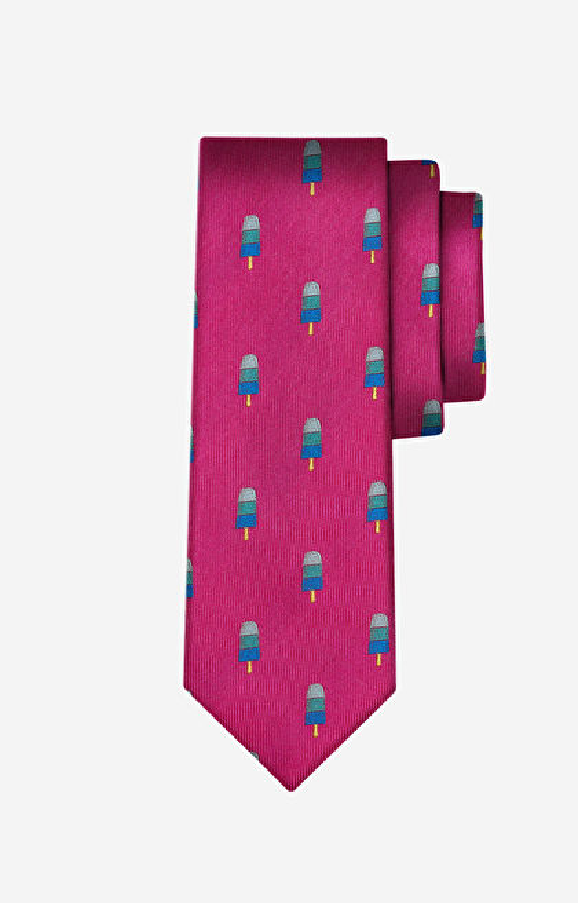 Różowy krawat LAMBERT
