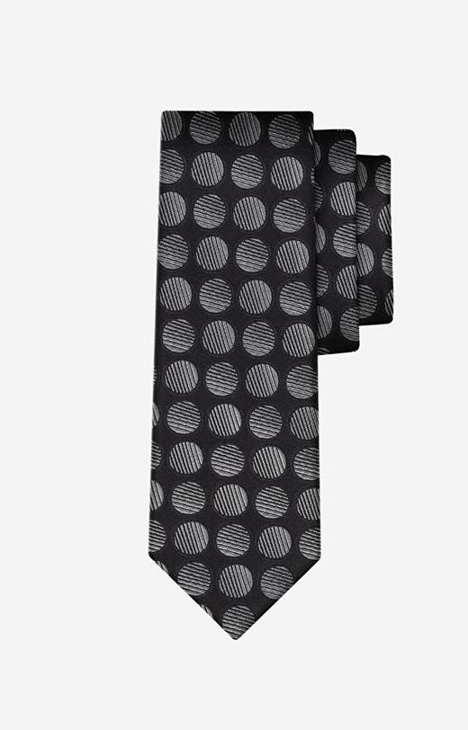 Grafitowy krawat WÓLCZANKA