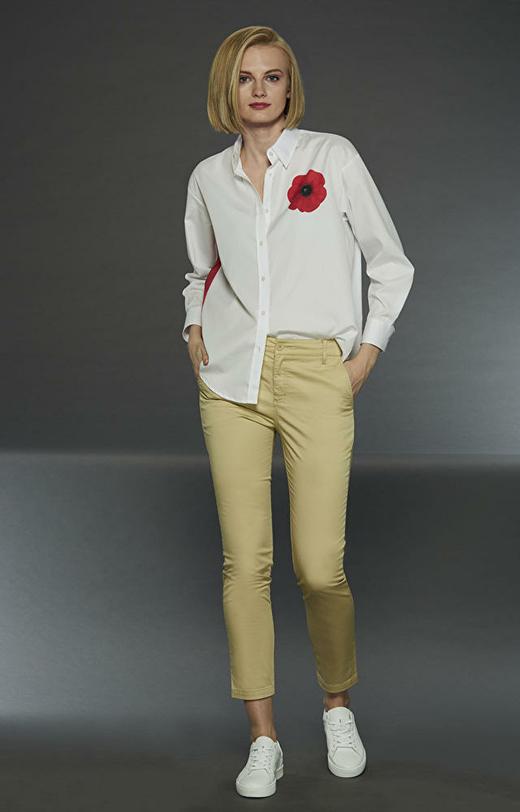 Beżowe spodnie damskie LAMBERT