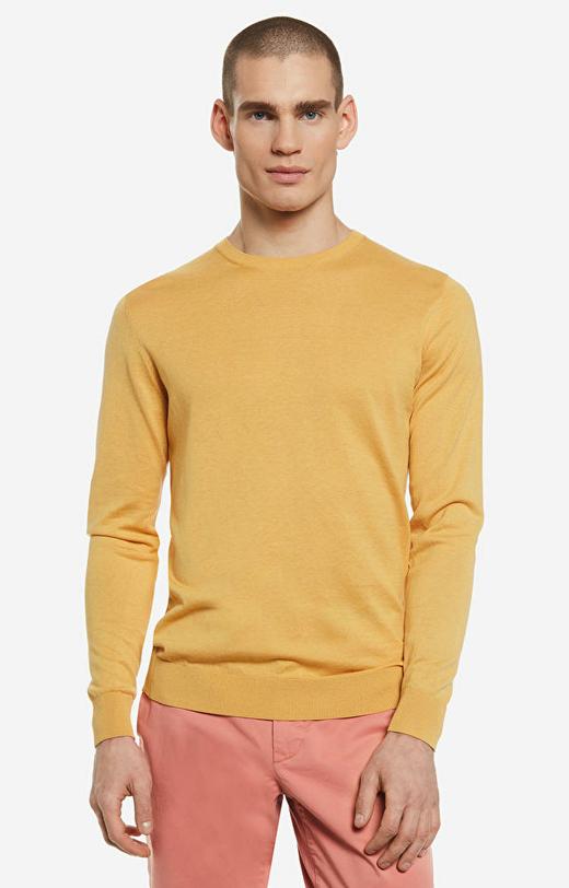 Żółty sweter LAMBERT