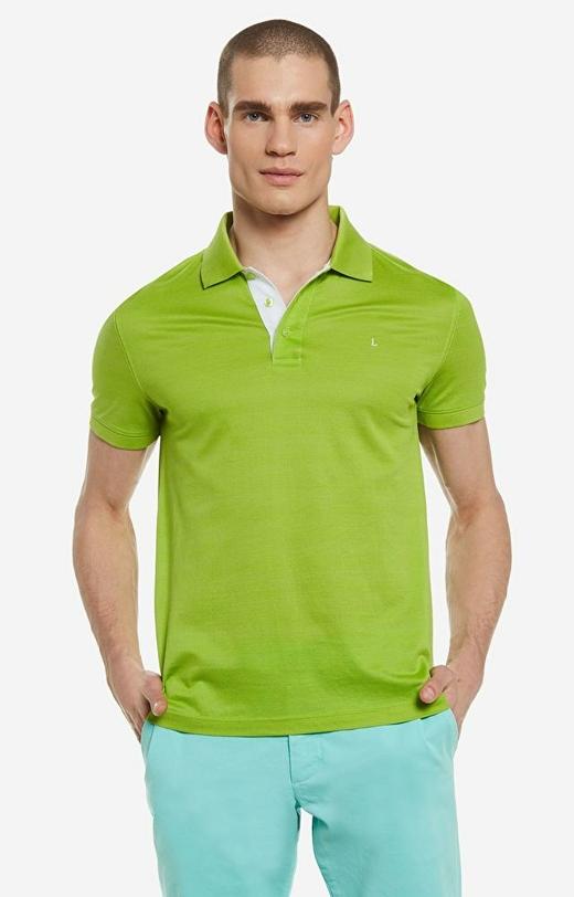 Zielone polo LAMBERT