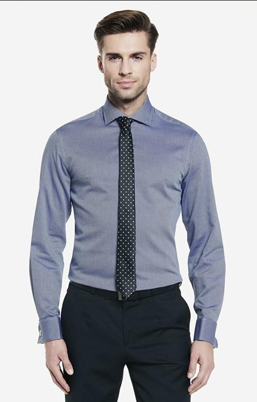 Granatowa koszula męska WÓLCZANKA