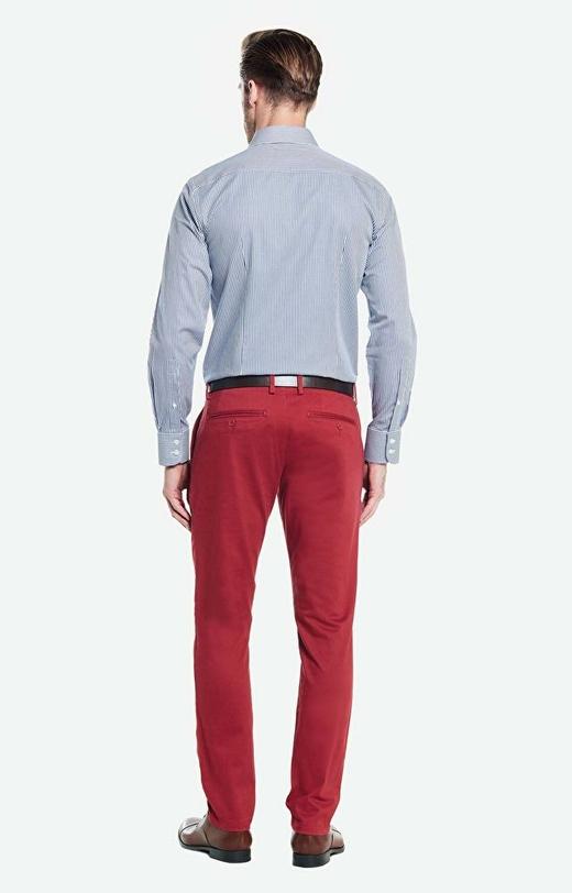 Bordowe spodnie WÓLCZANKA