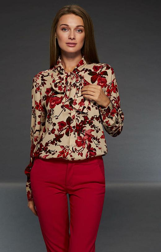 Beżowa koszula damska LAMBERT