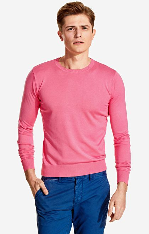 Różowy round-neck LAMBERT