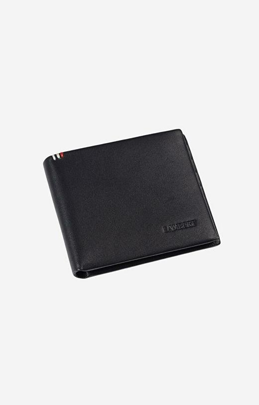 Czarny portfel LAMBERT