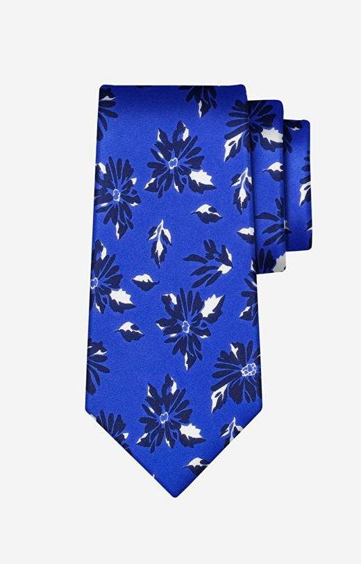 Granatowy krawat LAMBERT