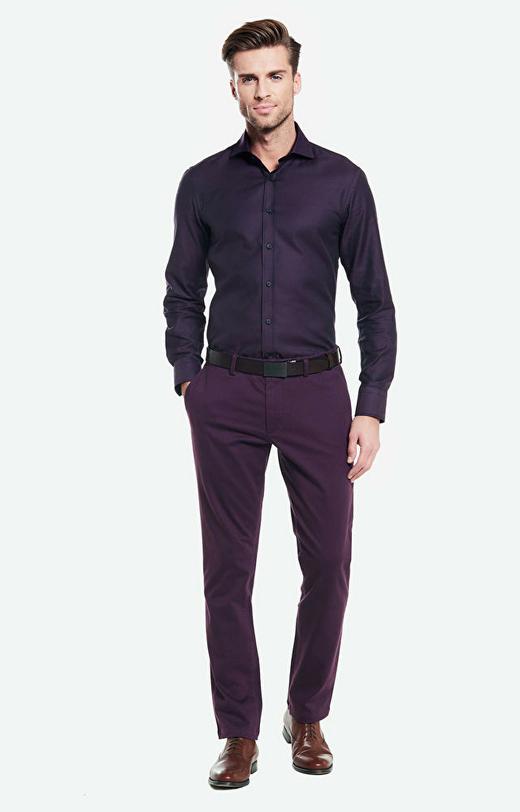 Fioletowe spodnie WÓLCZANKA