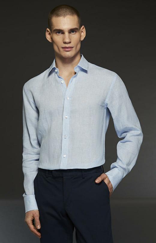 Niebieska koszula LAMBERT