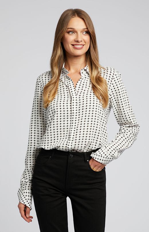 Elegancka koszula z nadrukiem