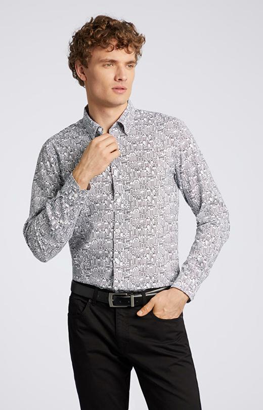 Koszula w oryginalny wzór