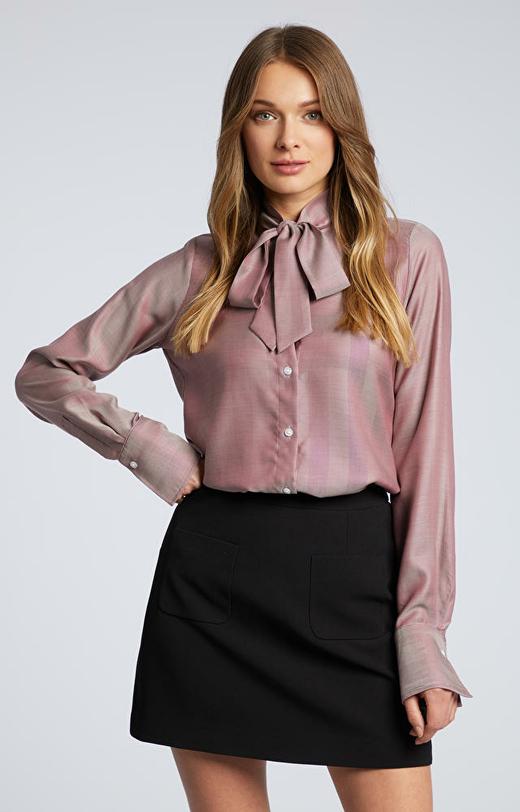 Bordowa koszula damska WÓLCZANKA