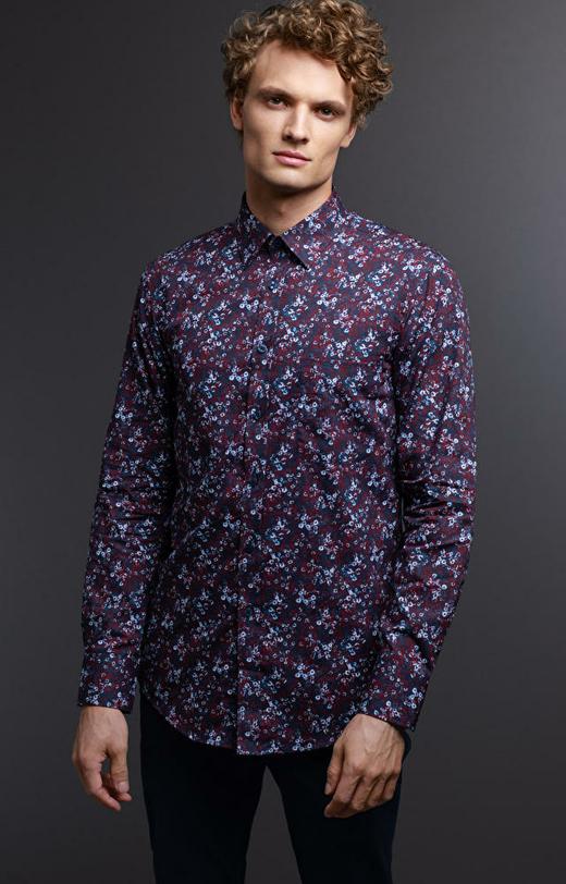 Bordowa koszula męska WÓLCZANKA