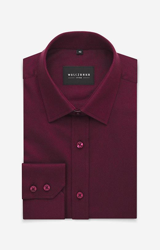Bordowa koszula WÓLCZANKA