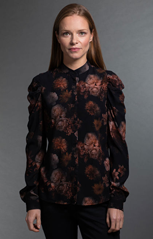 Brązowa koszula damska LAMBERT