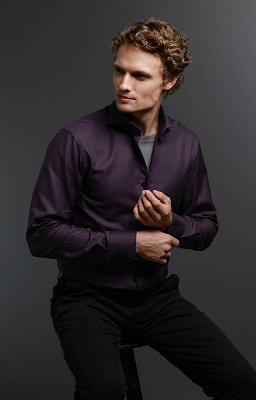 Brązowa koszula męska LAMBERT