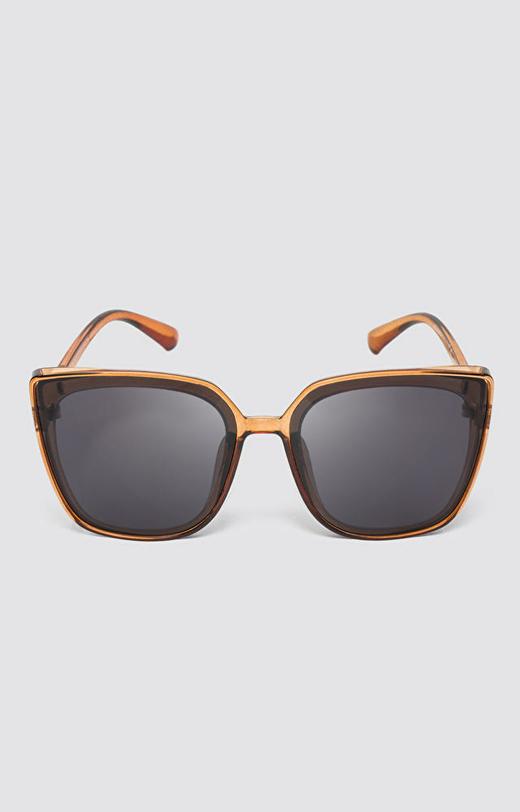 Brązowe okulary przeciwsłoneczne WÓLCZANKA