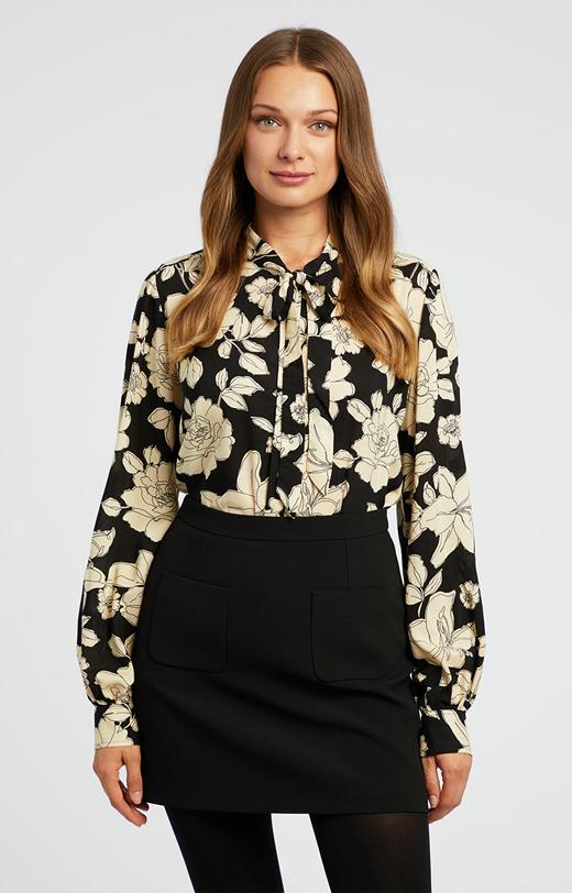 Kwiecista koszula z wiskozy