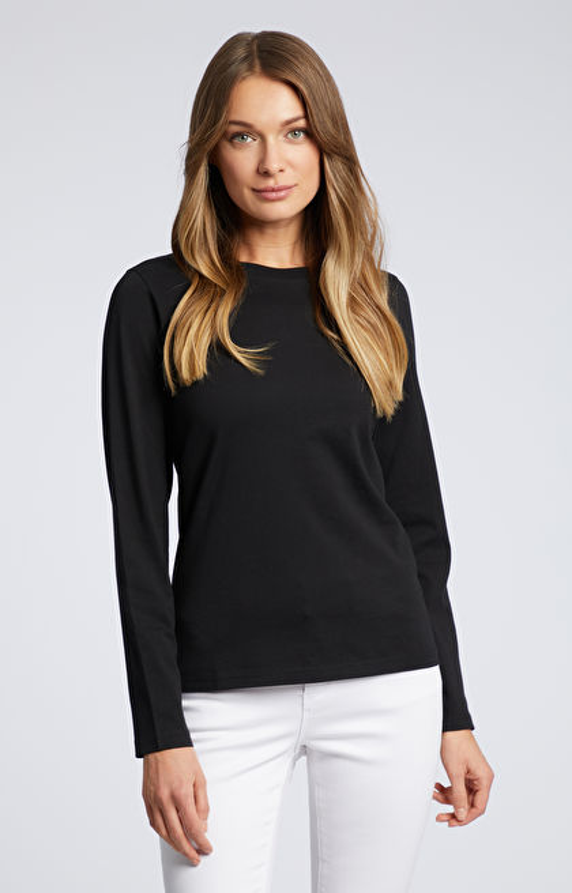 Czarna koszulka z długim rękawem WÓLCZANKA