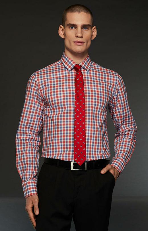 Czerwona koszula męska LAMBERT