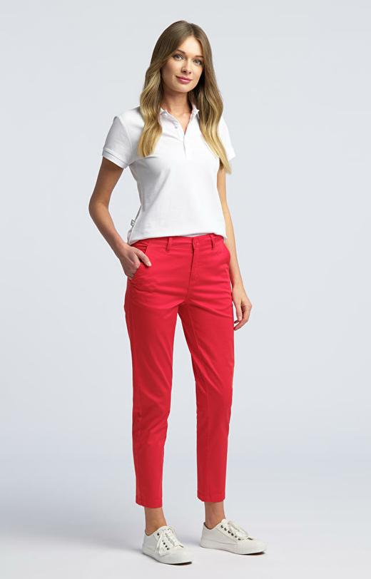 Czerwone spodnie damskie WÓLCZANKA
