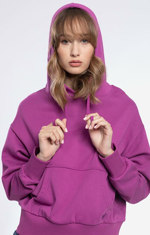 Fioletowa bluza damska WÓLCZANKA
