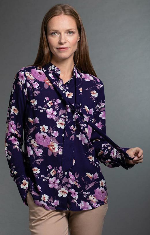 Fioletowa koszula damska LAMBERT
