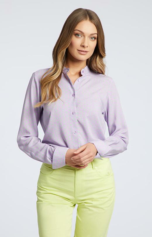 Fioletowa koszula damska WÓLCZANKA