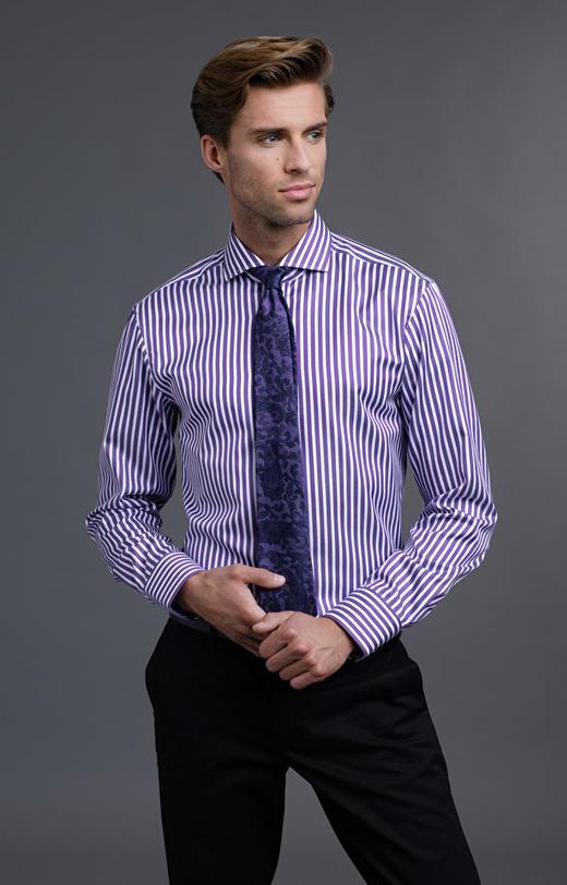 Fioletowa koszula męska LAMBERT