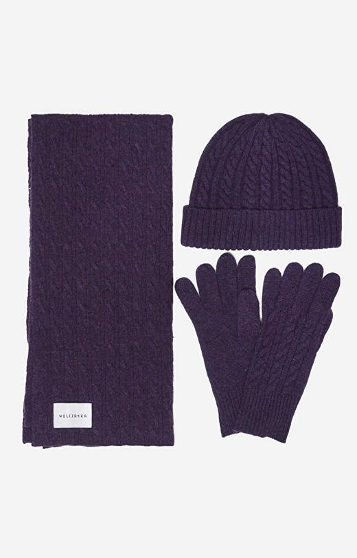 Fioletowe rękawiczki WÓLCZANKA