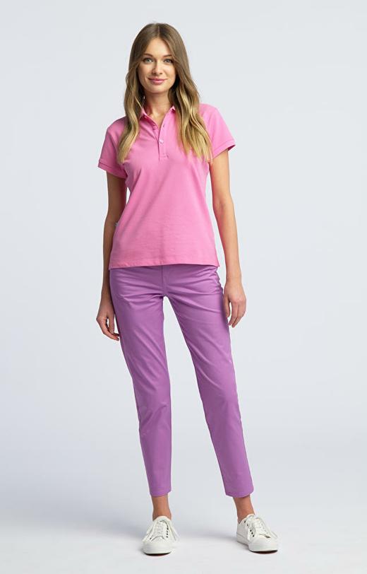 Fioletowe spodnie damskie WÓLCZANKA