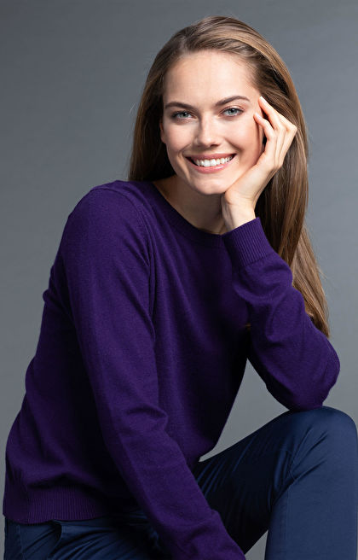 Fioletowy sweter damski WÓLCZANKA