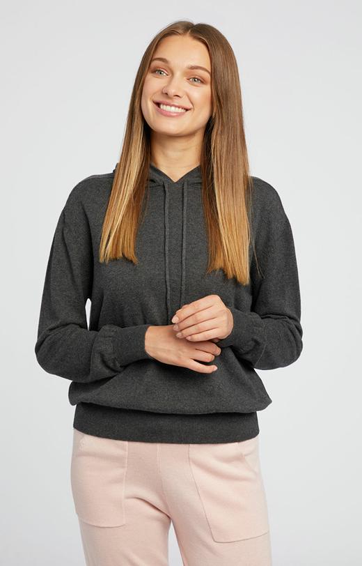 Swetrowa bluza z kaszmirem