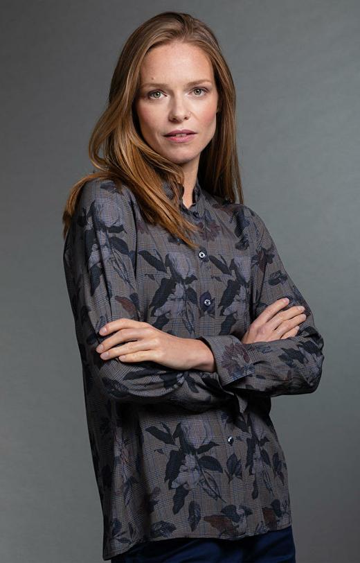 Grafitowa koszula damska LAMBERT