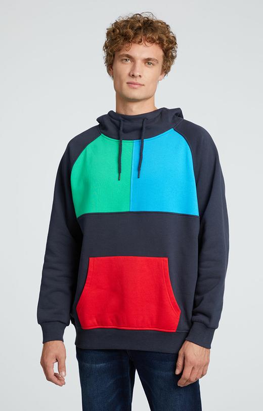 Kolorowa bluza z kapturem