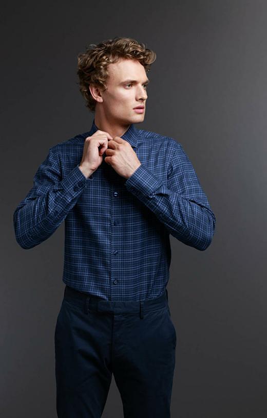 Granatowa koszula męska LAMBERT