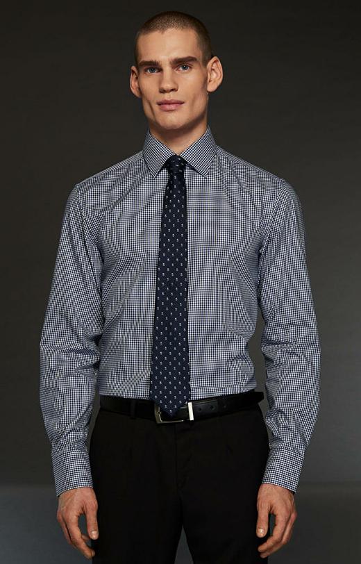 Granatowa koszula WÓLCZANKA