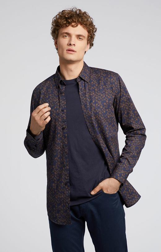 Kwiecista koszula z bawełny