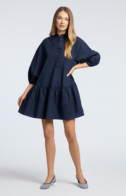 Granatowa sukienka WÓLCZANKA