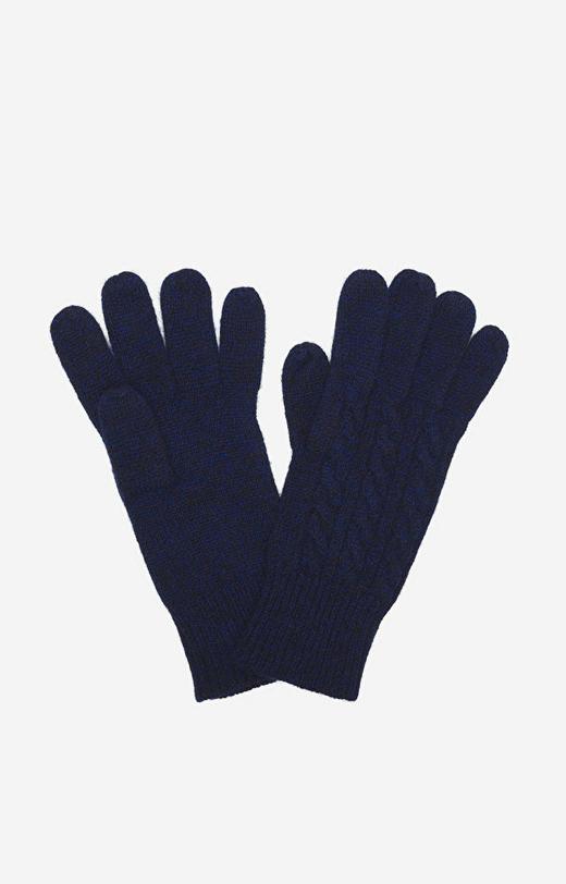 Granatowe rękawiczki WÓLCZANKA