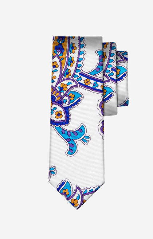 Biały krawat LAMBERT